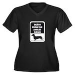 Ankle Death Women's Plus Size V-Neck Dark T-Shirt