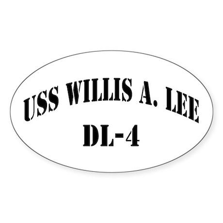 USS WILLIS A. LEE Sticker (Oval)