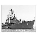 USS WILLIS A. LEE Small Poster