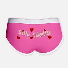 Pink Silly Valentine Hearts Women's Boy Brief