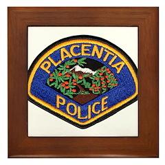 Placentia California Police Framed Tile