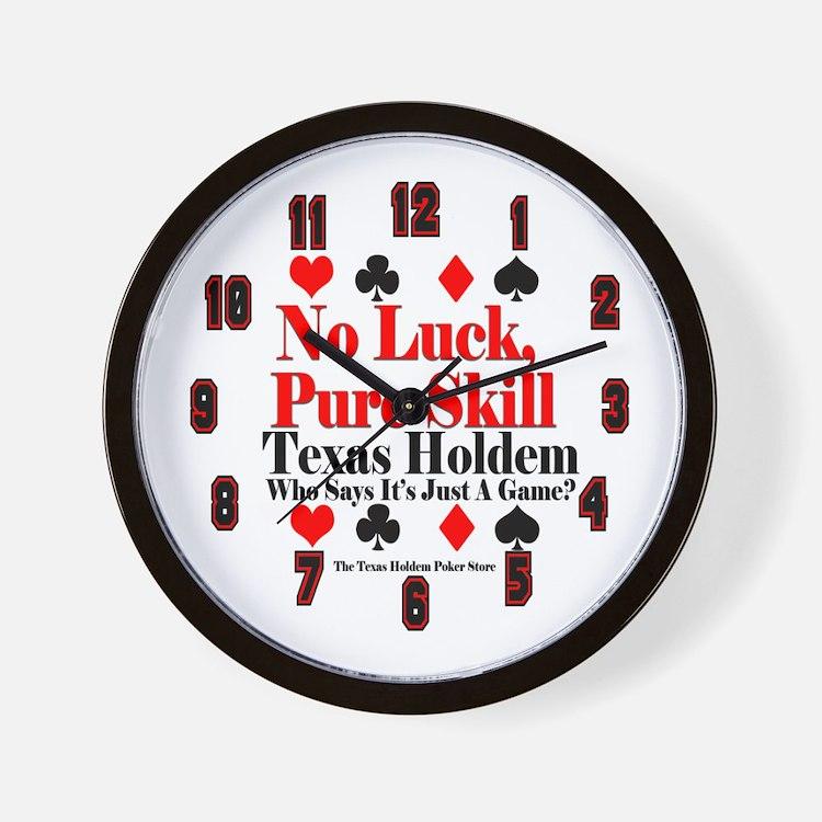 No Luck, Pure Skill Wall Clock