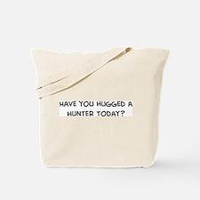Hugged a Hunter Tote Bag