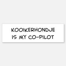 Co-pilot: Kooikerhondje Bumper Bumper Bumper Sticker