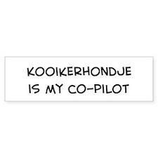 Co-pilot: Kooikerhondje Bumper Car Sticker