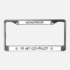 Co-pilot: Komondor License Plate Frame