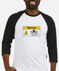 Funny Bacon Warning Baseball Jersey