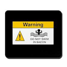 Funny Bacon Warning Mousepad