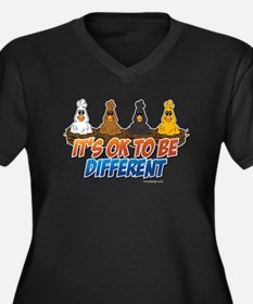 It's OK To be Different Women's Plus Size V-Neck D