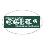 Big Celt Sticker (Oval)