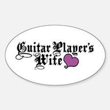 Guitar Player's Wife Decal