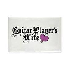 Guitar Player's Wife Rectangle Magnet