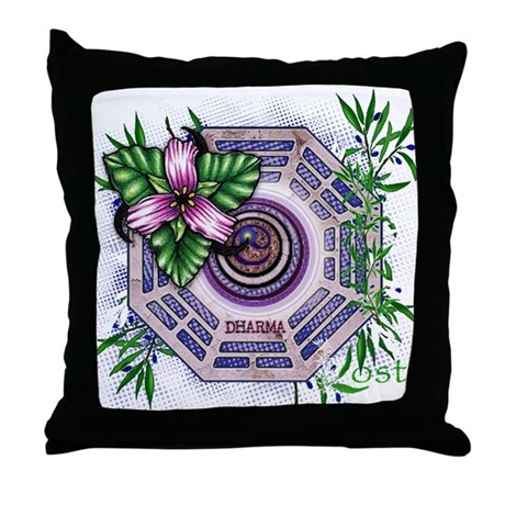 Lost TV Dharma Orchid Throw Pillow