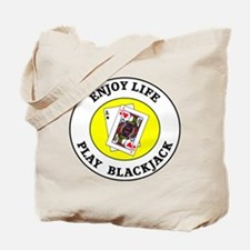 Enjoy Life Play Blackjack Tote Bag