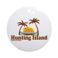 Hunting Island - Beach Design Ornament (Round)