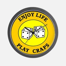 Enjoy Life Play Craps Wall Clock