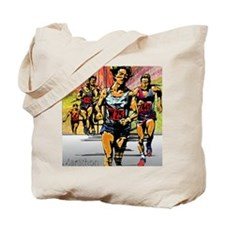 Marathon art on; Tote Bag