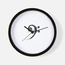Unique Bass clef Wall Clock