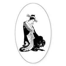 Geisha and rising sun inspired design Decal