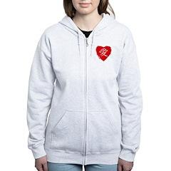 Ai Love Heart Zip Hoodie