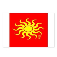 Flaming Natsu Sun Postcards (Package of 8)