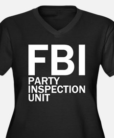 FBI Party Inspection (See Back) Women's Plus Size