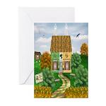St Patricks Day Cottage Cards (Pk of 20)