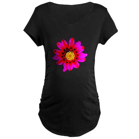 Pink Red Pop art Flower Maternity Dark T-Shirt