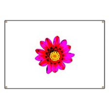 Pink Red Pop art Flower Banner