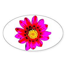 Pink Red Pop art Flower Decal