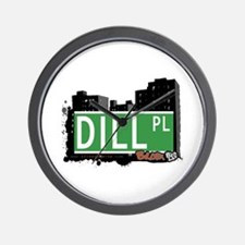 Dill Pl, Bronx, NYC Wall Clock