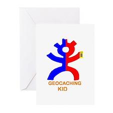 Geocaching Kid Greeting Cards (Pk of 10)