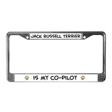 Co-pilot: Jack Russell Terrie License Plate Frame
