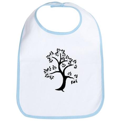 Tree of Life Black Bib