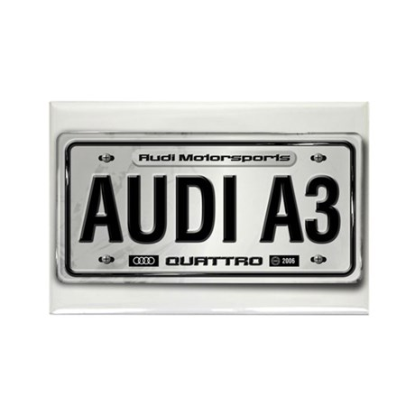 AUDI A3 License Plate Rectangle Magnet