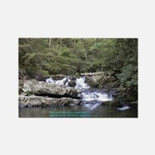 Waterfall w/poem Rectangle Magnet