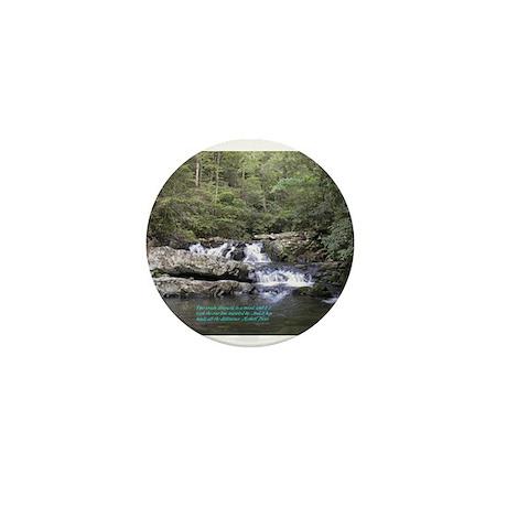 Waterfall w/poem Mini Button