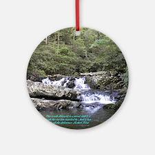 Waterfall w/poem Ornament (Round)