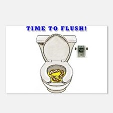 TIME TO FLUSH! Postcards (Package of 8)