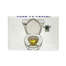 TIME TO FLUSH! Rectangle Magnet