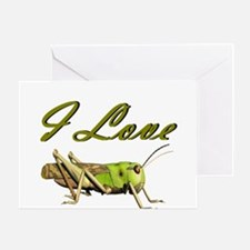 I love grasshoppers Greeting Card
