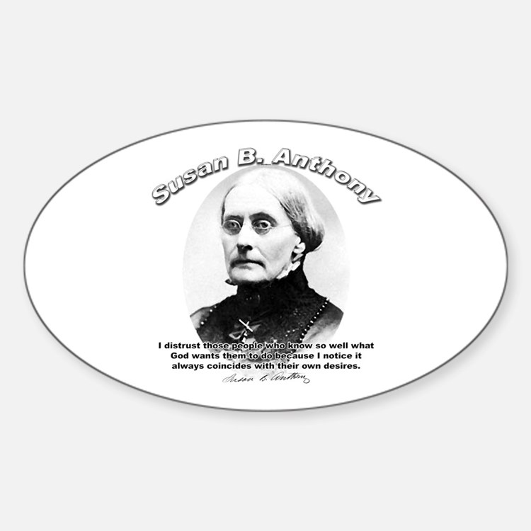 Susan B. Anthony 01 Oval Decal