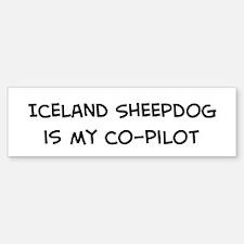 Co-pilot: Iceland Sheepdog Bumper Bumper Bumper Sticker