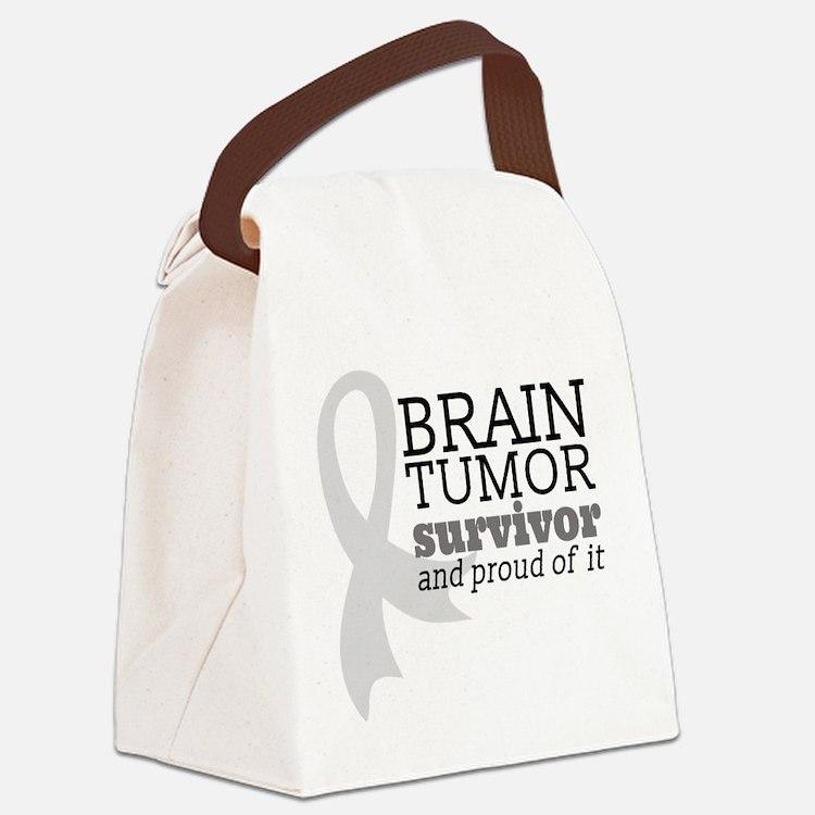Proud Brain Tumor Survivor Canvas Lunch Bag