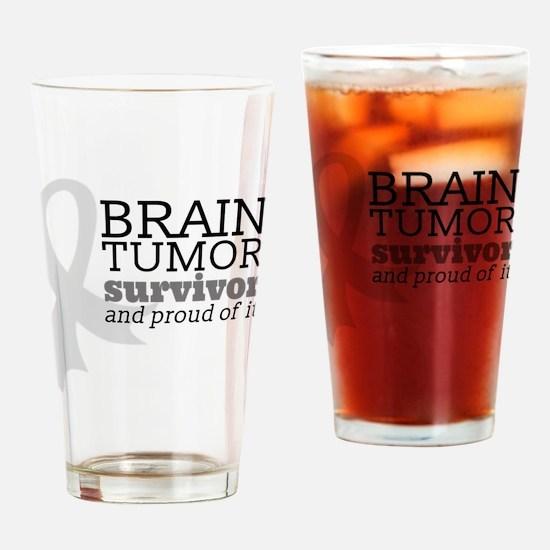 Proud Brain Tumor Survivor Drinking Glass
