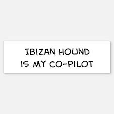 Co-pilot: Ibizan Hound Bumper Bumper Bumper Sticker