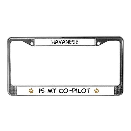 Co-pilot: Havanese License Plate Frame
