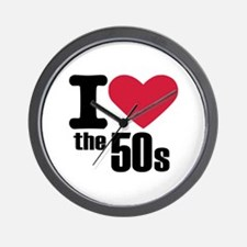 I love the 50's Wall Clock