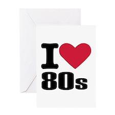 I love 80's Greeting Card