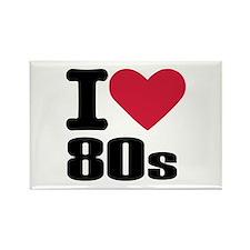 I love 80's Rectangle Magnet